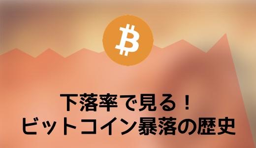下落率で見る!ビットコイン(Bitcoin)暴落の歴史