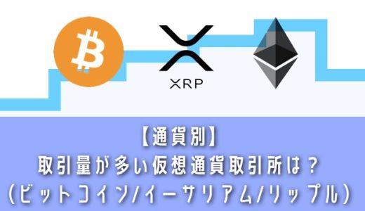 【通貨別】仮想通貨取引所の取引量・取引高ランキング!ビットコイン・イーサリアム・リップルの取引量