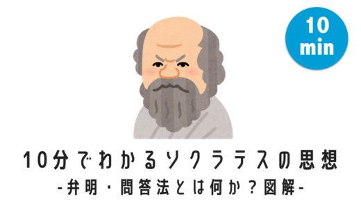 10分でわかるソクラテスの思想 -弁明・問答法をわかりやすく図解